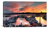 Sunset over Torquay Marina, Canvas Print