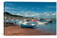 Teignmouth Back Beach , Canvas Print