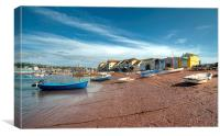 Peaceful early morning Teignmouth Back Beach, Canvas Print