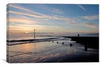Sunrise at Teignmouth Beach , Canvas Print