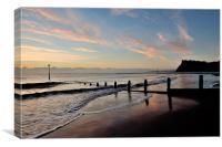 Teignmouth Beach Sunrise, Canvas Print