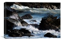 Rocks and Waves, Canvas Print