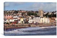 Teignmouth Sea Front, Canvas Print
