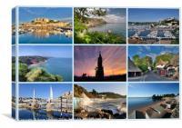 Torquay Views around the Bay, Canvas Print