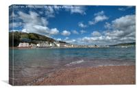 Looking across the River Teign Estuary at Shaldon Village, Canvas Print