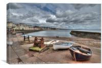 Boat Cove at Dawlish between the showers, Canvas Print