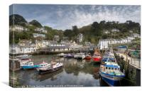 Low Tide at Polperro, Canvas Print