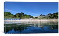 Meadfoot Beach Torquay taken from the sea, Canvas Print