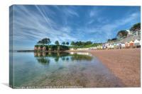 Early summer morning at Corbyn Head Beach Torquay, Canvas Print