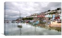 Peaceful day at Brixham Harbour, Canvas Print