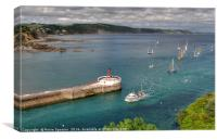 The end of the day after Looe Lugger Regatta , Canvas Print