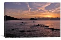 Sunrise Meadfoot Beach Torquay, Canvas Print