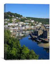 The River Looe early on a summer's morning, Canvas Print