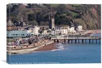 Teignmouth Town viewed from Shaldon, Canvas Print