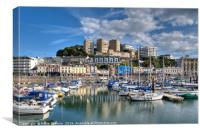 Torquay Harbour Reflections, Canvas Print