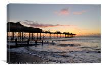 Sunrise at Teignmouth Pier, Canvas Print