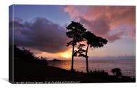 Sunrise at Meadfoot Beach Torquay, Canvas Print