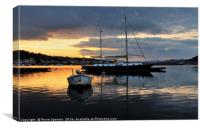Sunrise from Teignmouth Back Beach , Canvas Print