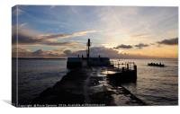 Banjo Pier Looe at Sunrise, Canvas Print