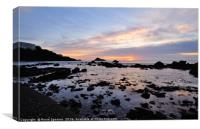 Meadfoot Beach Low Tide Sunrise, Canvas Print