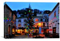Christmas Tree in Looe Cornwall, Canvas Print