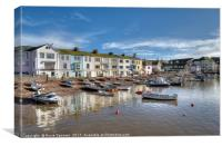 Sleepy day on Teignmouth Back Beach, Canvas Print