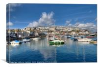 Clouds gather over Brixham Harbour, Canvas Print