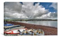 Clouds gather over at Shaldon on the River Teign, Canvas Print
