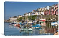 Sunny afternoon at Brixham Harbour in South Devon, Canvas Print
