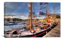 Tall Ships at Torquay Harbour, Canvas Print