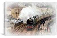 Steam train Tornado pulling the Cornishman, Canvas Print