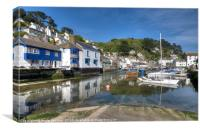 The River Pol at Polperro as the tide comes in, Canvas Print