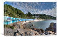 Meadfoot Beach Chalets and Osborne Hotel Torquay, Canvas Print