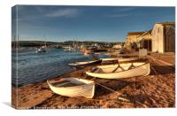 Golden light on Teignmouth Back Beach on The River, Canvas Print