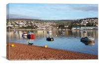 Bright sunny morning on the River Teign at Shaldon, Canvas Print