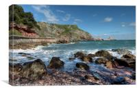 Ansteys Cove in Torquay , Canvas Print