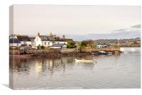 Peaceful Ringmore  on The River Teign, Canvas Print