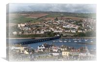 Shaldon Teignmouth River Teign and Bridge, Canvas Print