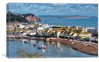 Teignmouth Back Beach on The River Teign, Canvas Print
