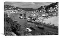 Luggers racing at Looe in South East Cornwall, Canvas Print