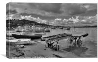 The Old Boat Launch on Teignmouth Back Beach, Canvas Print