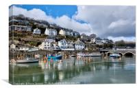 The beautiful Looe River on a peaceful morning, Canvas Print