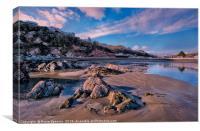 Millendreath Beach Looe in South East Cornwall, Canvas Print