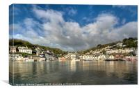 Big clouds over West Looe viewed from East Looe , Canvas Print