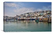 Peaceful morning at Brixham Harbour, Canvas Print