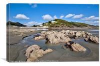MIllendreath Beach in Looe,  South East Cornwall, Canvas Print