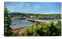 Teignmouth and Shaldon Bridge over the River Teign, Canvas Print