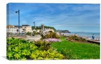Teignmouth Beach and Promenade , Canvas Print