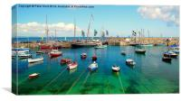A Sunny Day In Mousehole, Canvas Print