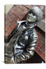 John Lennon statue, Canvas Print
